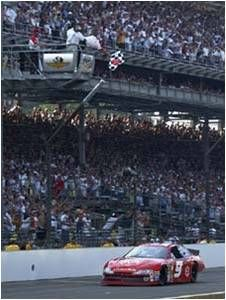 Elliott under the checkered flag and across the hallowed yard of bricks at Indianapolis to collect his biggest win in 25 years