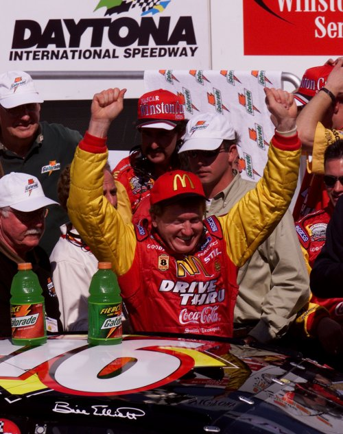 In his final year driving out of Dawsonville, and for Ford, Elliott managed to get McDonald's and his 94 team into victory lane, even if in an unofficial race, by winning this fourth Gatorade 125 Mile Qualifying Race.